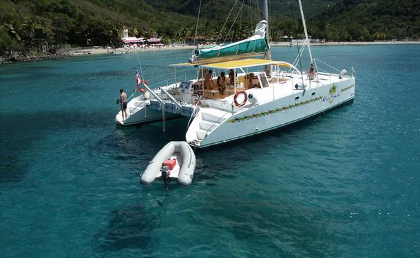 Journée catamaran au nord de l'île avec les dauphins