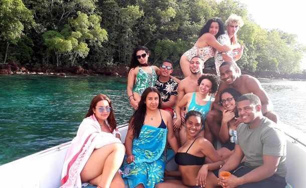 Après-midi au sud caraïbe avec les tortues
