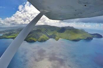 La Martinique vue du ciel aux commandes d'un avion
